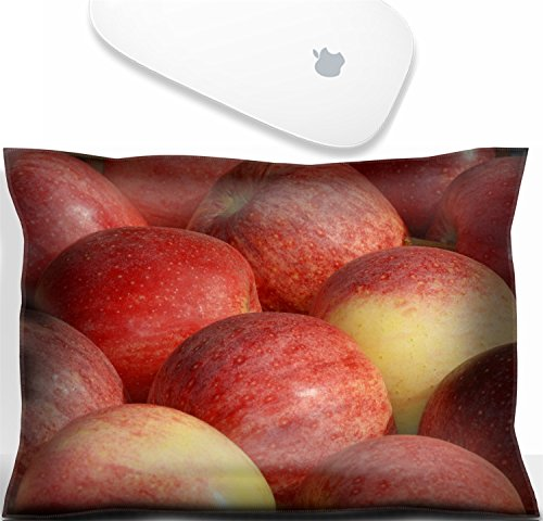 Luxlady Mouse Wrist Rest Office Decor Wrist Supporter Pillow red apples at a farmers market in France. IMAGE: 3788196