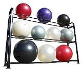 j/fit Heavy-Duty Metal Stability Ball Rack, Black