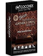 Coconix Bruin lederen reparatieset voor banken - vinyl & bekleding reparatieset voor autostoelen, bank & meubels - Liquid Scratch Filler Formula