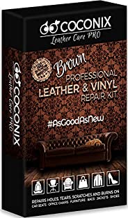 COCONIX Brown Leather and Vinyl Repair Kit - Restorer of Your Couch, Sofa, Car Seat and Your Jacket - Super Ea