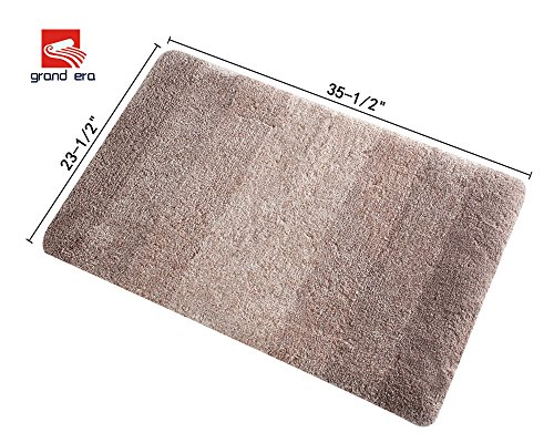 Grand Era Luxury Extra Thick Microfiber Bath Mat Non Slip