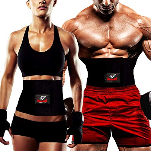 Armageddon Sports Premium Waist Trimmer Belt, Sweat Belt for Men and Women, Neoprene Sauna Slim Waist Band to Burn Abdominal Belly Fat, Weight Loss and Lower Back Posture Support