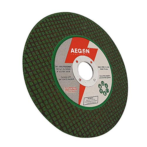 Aegon A60rBf Double Net Power Green 4 Inch Cut Off Wheel for Cutting Metal/Stainless Steel/Pipe/Steel/Iron/Bar/Tmt (107 X 1.2 X 16 Mm, 4 Inch, Green, Pack of 50) Price & Reviews