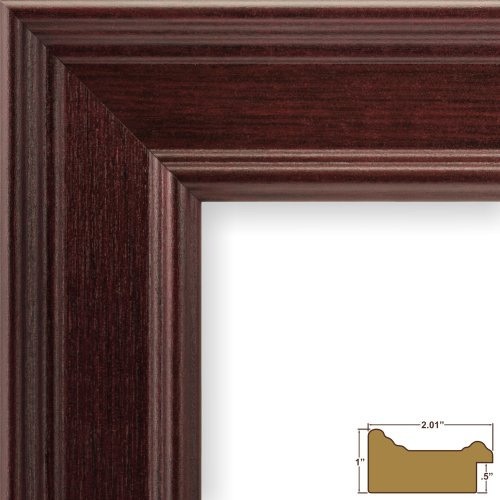 Craig Frames FM97MA1620DAC 2-Inch Wide Picture/Poster Frame in Smooth Grain Finish, 16 by 20-Inch, (Mahogany Frame)