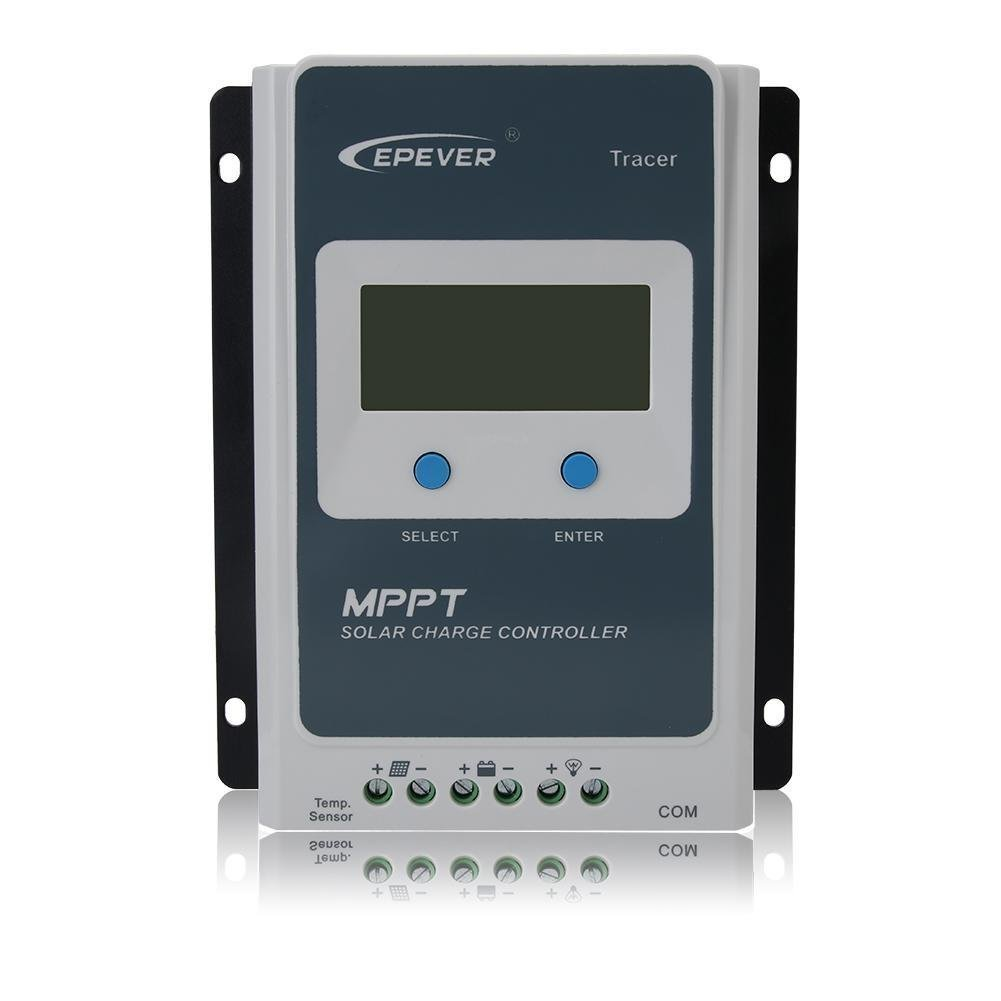 EPever Tracer AN 30A 40A MPPT Solar Charge Controller 100V PV Negative Grounded Solar Regulator LCD Display High tracking efficiency up to 98% (MT50)