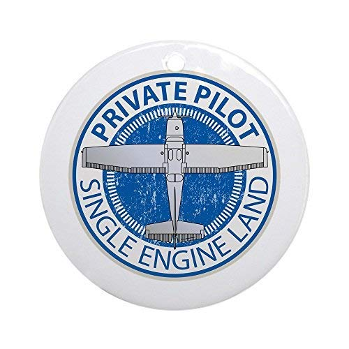 Louis Aviation Private Pilot Ceramic Ornament 3 inch Round Holiday Christmas Ornament