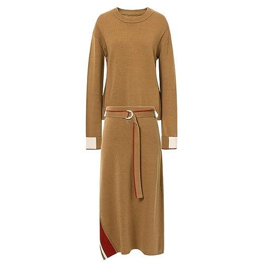 Vestidos Mujer Dirndl Falda marrón casa Una línea de Falda Cintura ...