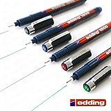 EDDING 1800 PROFIPEN FINELINER - Rotulador para dibujo, tinta, 0,1 mm, juego de 4, color negro, azul, rojo y verde