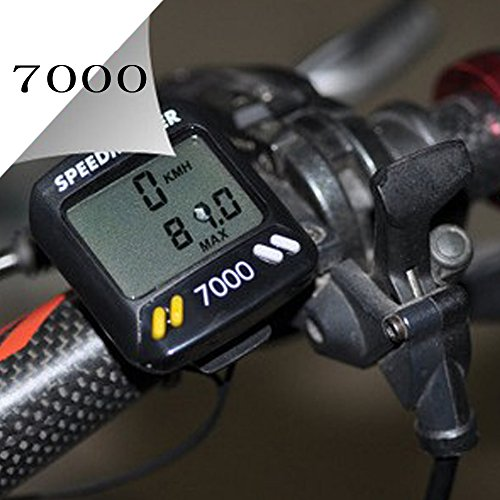 Meanhoo Digital Bike Cycle Computer for bicycle with Led LCD Backlight, speedometer odometer with Free Mount by Meanhoo
