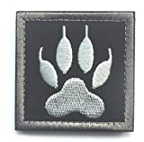 WOLF TRACKER PAW USA ARMY MILITARY MORALE TACTICAL BLACK OPS SWAT VELCRO PATCH