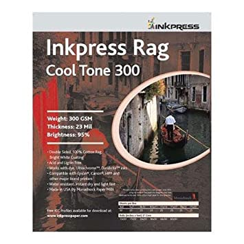 Amazon.com: inkpress Rag, cool tono doble cara, Bright White ...