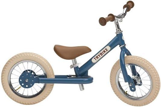 TRYBIKE Bicicleta Evolutiva 2 Ruedas Convertible Vintage - Azul ...