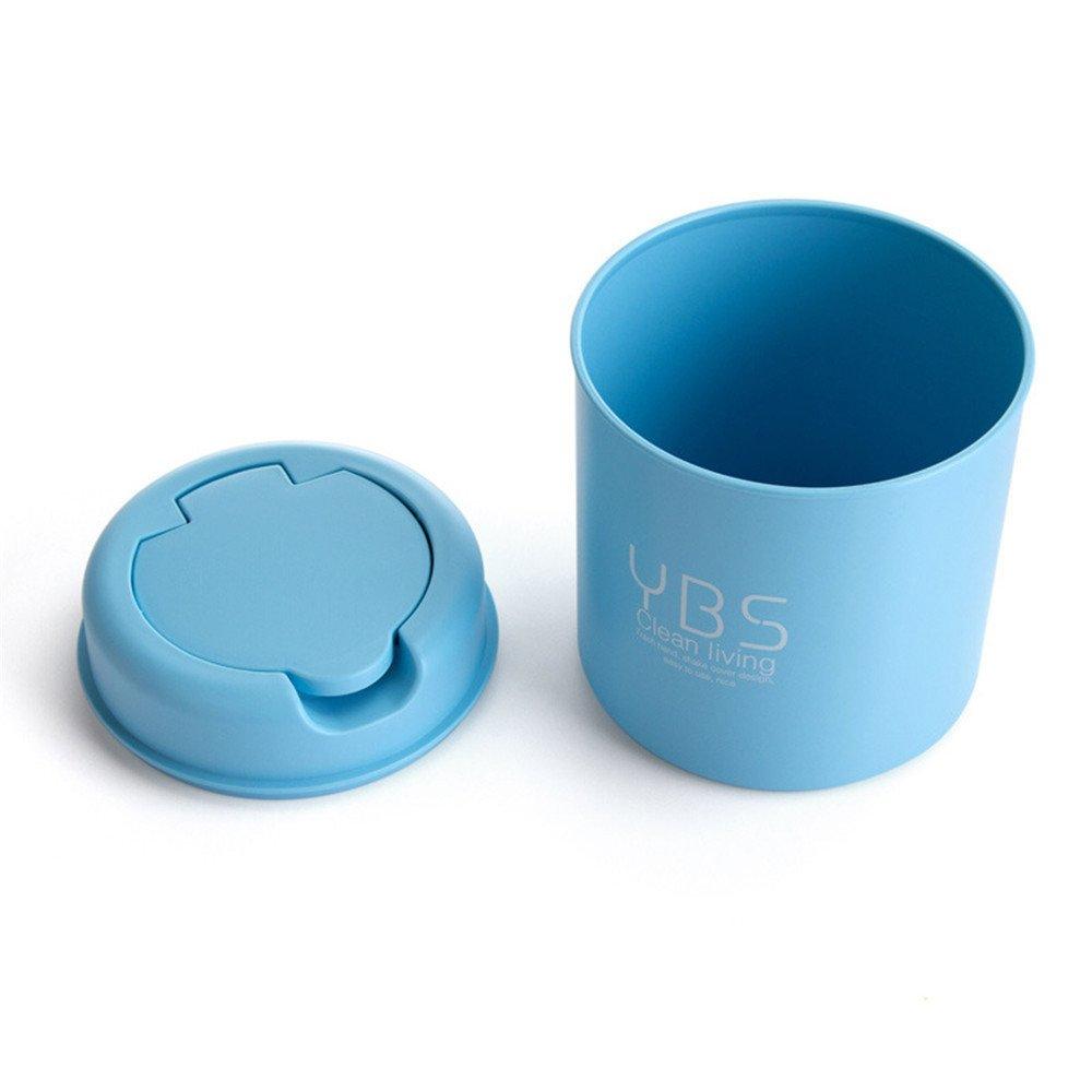 カバー付きミニデスクトップゴミ箱、Vinjeely Creative リビングルーム用ゴミ箱 S ブルー B07JVFD9BD ブルー