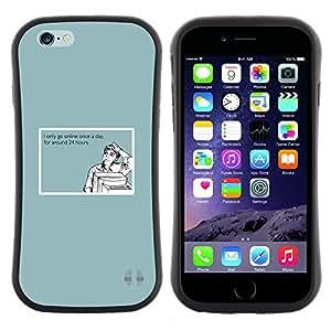 """Pulsar iFace Series Tpu silicona Carcasa Funda Case para Apple iPhone 6 / 6S (4.7 INCH) , Cita Adicción a Internet divertido ordenador Hombre"""""""