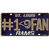 CAS St. Louis Rams #1 Fan License Plate