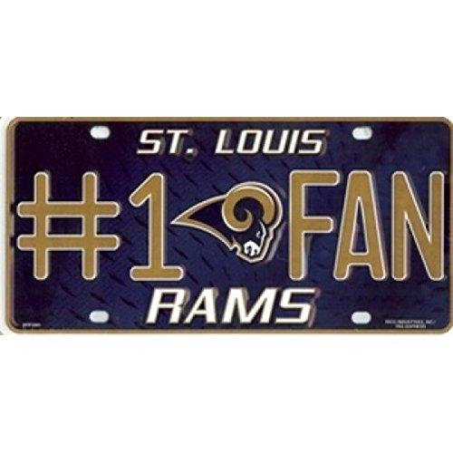CAS St. Louis Rams #1 Fan License Plate by CAS