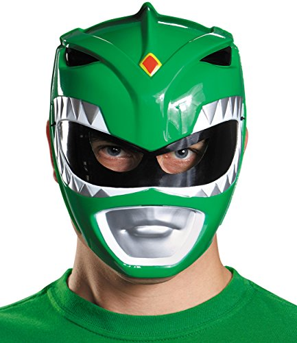 Disguise Costumes Green Ranger Vacuform Mask, Adult ()