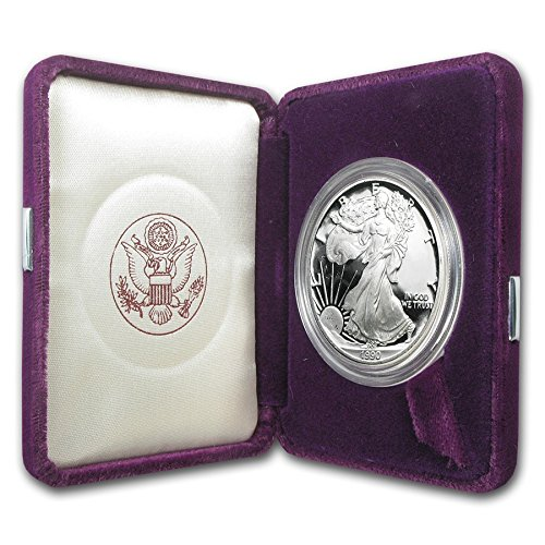1990 S American Silver Eagle With Velvet Box & COA $1 Proof US Mint