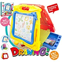 Beebeerun 5 in 1 Portable Magnetic Drawing Board