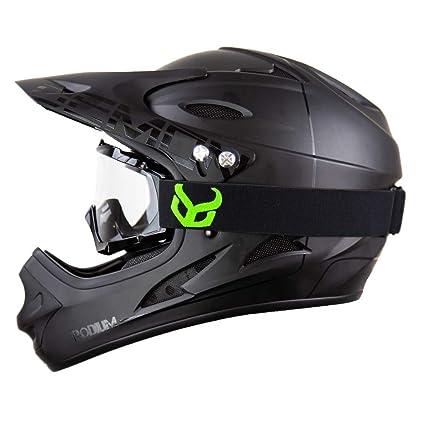 Amazon Com Demon United Podium Black Black Full Face Mountain Bike