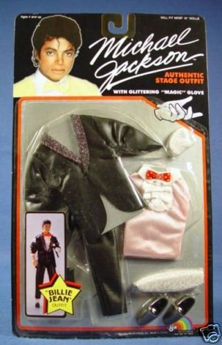 Michael Jackson 1984 Billie Jean Doll Stage OUTFIT - OUTFIT ONLY (Michael Jackson Billie Jean Outfit)