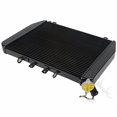 Black-Engine-Radiator-Cooler-Cooling-For-Kawasaki-Ninja-ZX12R-ZX-12R-2000-2001 B0771HH6TJ