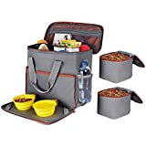 Dog Travel Bag - Airline Approved Organizer for Pet Accessories Essentials Gear Food Puppy Diaper Grooming Kit - Dogs Traveling Tote for Camping & Beach - Dog Suitcase for Overnight & Week Long Trips