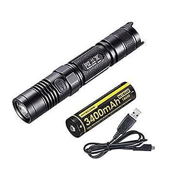 Nitecore P12 - Linterna LED (1000 lm, cargador rápido USB ...
