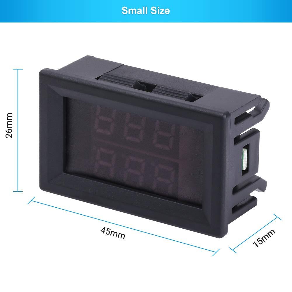 PEMENOL DC4-28V Rot Blau Dual Display-Digital-Thermometer mit NTC Wasserdichtem Metallf/ühler-Temperatursensor