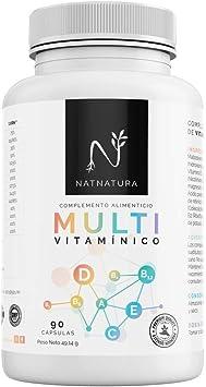 Complejo multivitamínico con Vitamina D 3 para hombre y mujer, a base de vitaminas y minerales. Reduce el cansancio, la fatiga y refuerza el sistema inmunitario. 90 cápsulas.: Amazon.es: Salud y cuidado