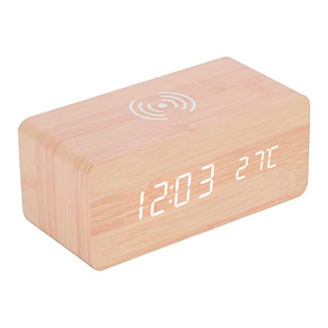 Eboxer Despertador con Retroiluminación LED,Espejo Reloj Digital con Configuración de Alarma, Control por