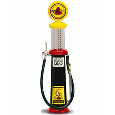 Cylinder Gas Pump Pennzoil, Black - Yatming 98792 - 1/18 scale diecast model: Toys & Games