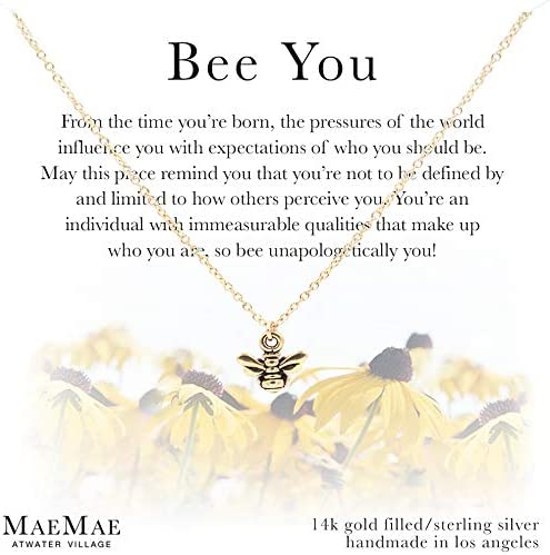 18 MaeMae 14K Gold Filled Butterfly Pendant Necklace