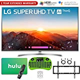 LG 4K HDR Smart LED AI SUPER UHD TV with ThinQ (2018 Model) + Free Hulu $25 Gift Card + 1 Year Extended Warranty + Flat Wall Mount Kit Ultimate Bundle + More (55 SK8000)