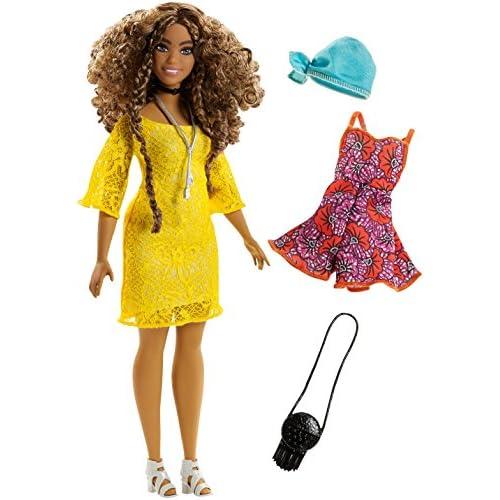 Barbie - Fashionistas #46 Robe en Dentelle Jaune - Poupée Mannequin, FJF70