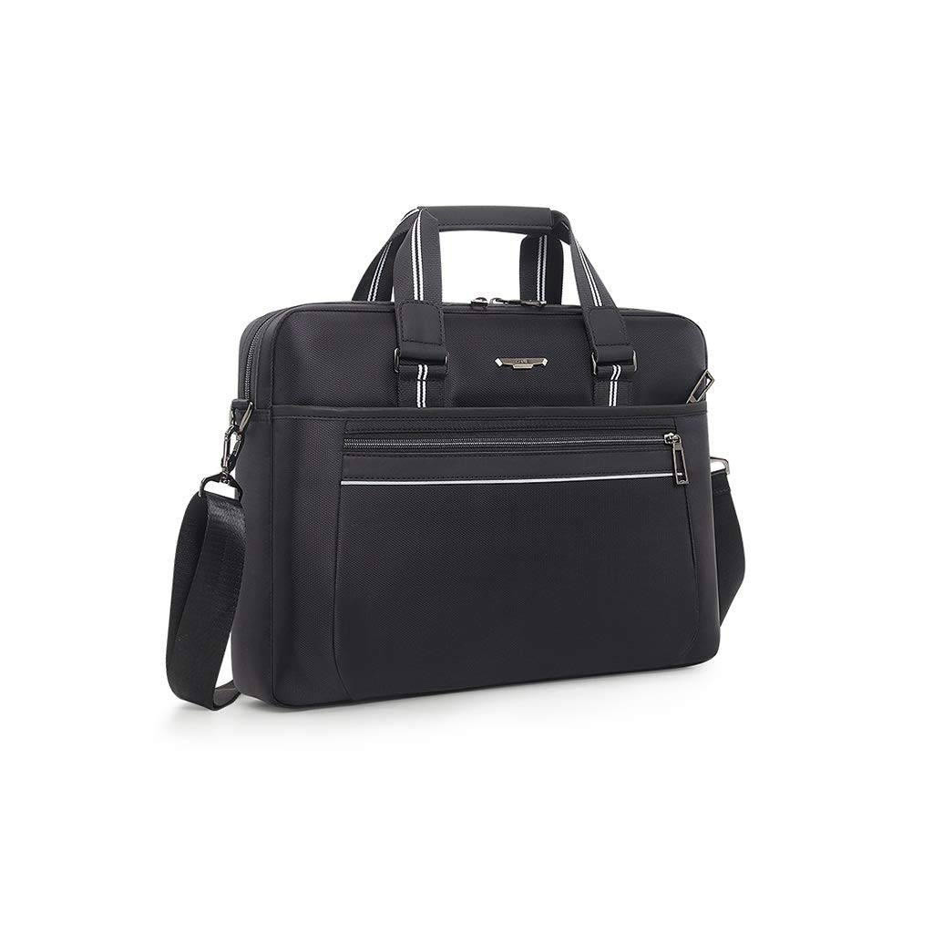 QSJY File Cabinets Men's Portable Waterproof Computer Bag 15.6 inch Oxford Cloth Leisure Business Bag 41×31×8CM (Color : Black, Size : 41×31×8CM) by QSJY File Cabinets