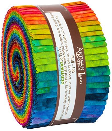 Lunn Studios Artisan Batiks Patina Handprints Double Ombre Roll Up 40 2.5-inch Strips Robert Kaufman