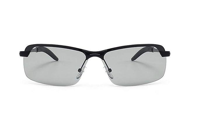 Huyizhi Guay Hombres Mujeres Moda polarizada día y noche uso gafas UV400 Gafas de sol protectoras