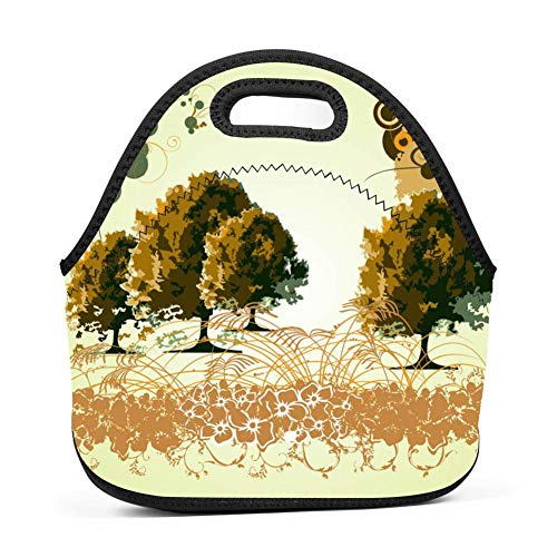Trees and Swirls Graphics Lunch Bag Reusable Bento for sale  Delivered anywhere in USA