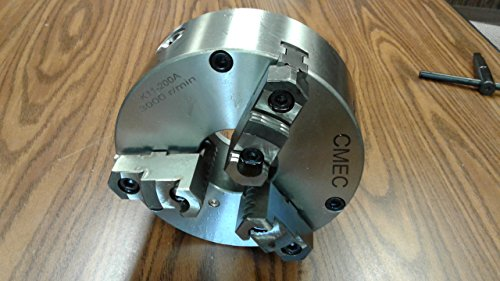 8'' 3-JAW SELF-CENTERING CHUCKS plain back, Front Mounting for rotary tables by CME Tools