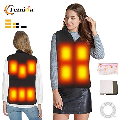 FERNIDA Electric Warm Waistcoat High Collar Heated Vest Heating Gilet Women/Men Ourdoor Colthes S/M