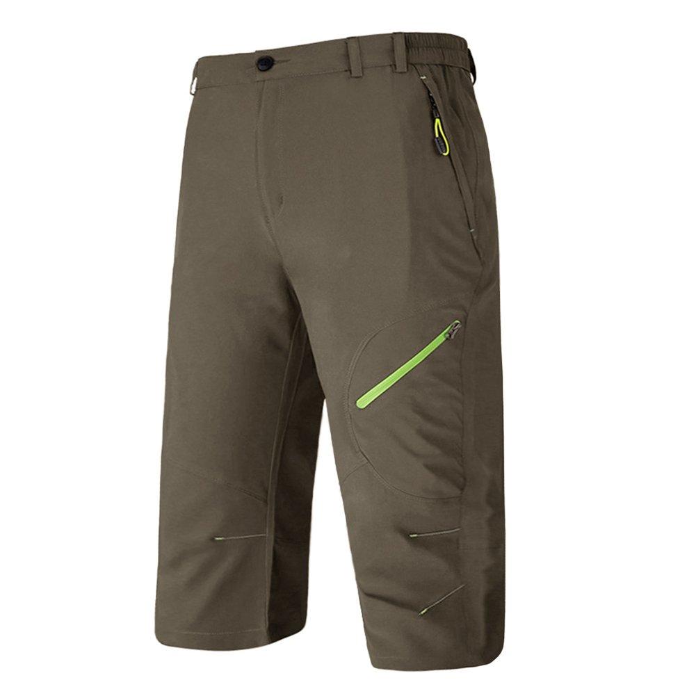 BIYLACLESEN Capri Jogger Pants for Men Hiking Pants Mens Lightweight Pants for Men Quick Dry Shorts Men Sport Shorts for Men Pockets
