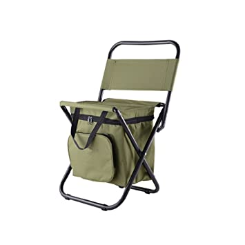 Phenomenal Nadalan Outdoor Folding Chairs Fishing Chair Portable Camping Stool Foldable Chair With Double Layer Oxford Fabric Cooler Bag For Ncnpc Chair Design For Home Ncnpcorg