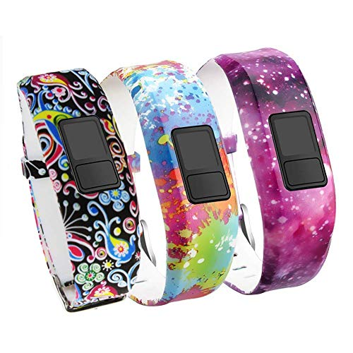 Band Compatible for Garmin Vivofit 3 Vivofit JR Vivofit JR. 2-Budesi Colorful Adjustable Replacement Wristband Strap Bands Compatible Vivofit 3/JR/JR. 2 Bracelet(for Kids, Wrist Over 135cm at Least)