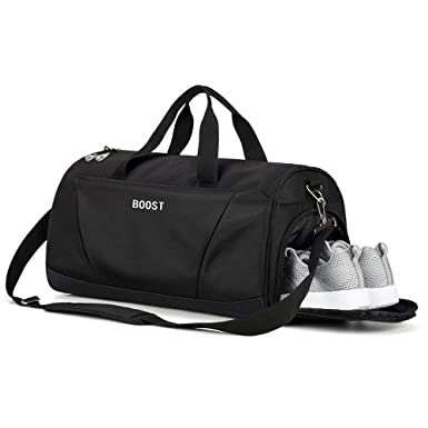 16e8e89b3193 Sports Gym Bag with Shoes Compartment for Men and Women