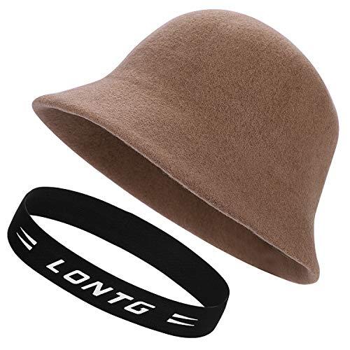 QCHOMEE Lady Wool Knit Vintage Japanese Fisherman Hat Cap Casual Versatile Wool Felt Basin Cap Bucket Hat Korean Version Winter Beret Hat - Felt Bucket