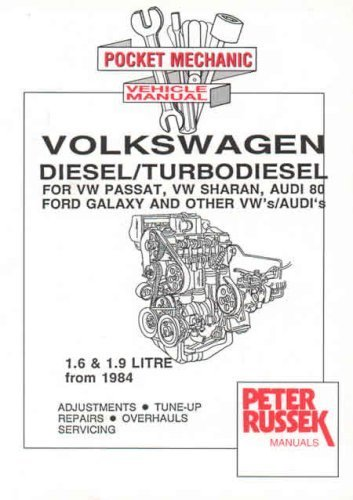 Audi and VW 1.6 and 1.9 Litre Diesel, Turbodiesel and TDI Engines: For VW Passat, Sharan, Audi 80, Other VW/Audis, Seat Toledo, Ford Galaxy (Engine Manual S.)