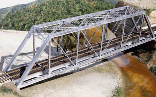 150' Through-Truss Bridge -- With Gussested Girders - Kit