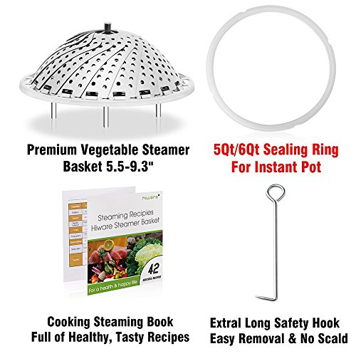 Vegetable Steamer Basket For Instant Pot Accessories - 100% Steel Folding Steamer Insert With Sealing For Instant Pot/Safety Recipes