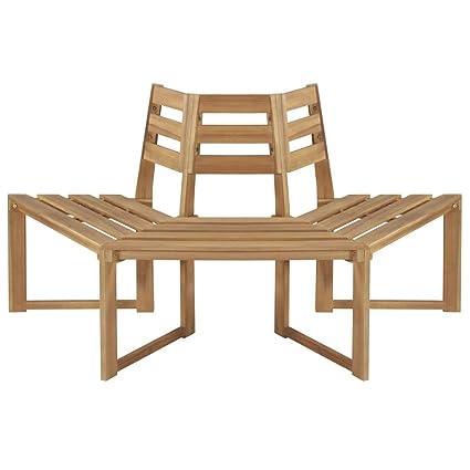 Prime Amazon Com Festnight Patio Surround Tree Bench Outdoor Squirreltailoven Fun Painted Chair Ideas Images Squirreltailovenorg